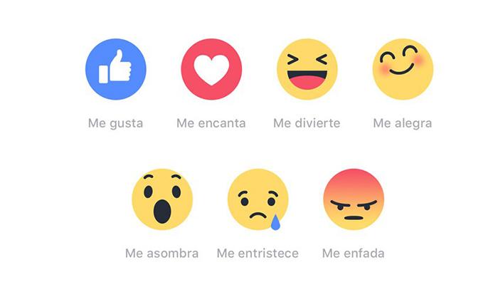 nuevas reacciones en facebook