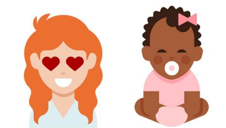 emoji pelo rizado