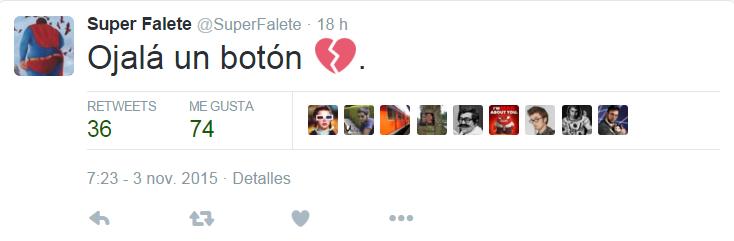 Twitter captura superfalete