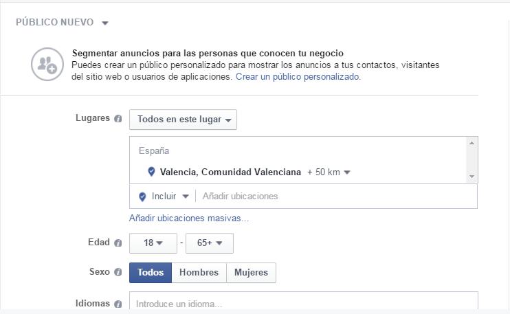 Publico facebook ads